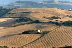 Marcheert (Italië) - Landschap bij de zomer Royalty-vrije Stock Afbeeldingen