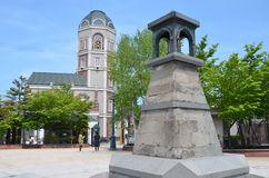 Marchen Square Otaru Hokkaido Japan. Marchen Square is located on the Central Road, Sakai machi space is the location of the lighthouse Lantern-shaped sculpture Stock Photos