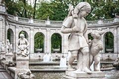 Marchenbrunnen Fairy Tale Fountain in the Volkspark Friedrichsha Stock Photography