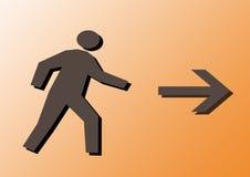 Marchent de cette façon Photo libre de droits