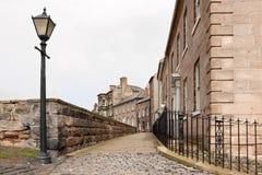 Marchent les murs chez Berwick sur le tweed Images stock