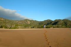 Marchepieds dans le sable Photographie stock