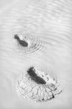 Marchepieds en sable Photo stock