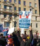 Women`s March, Zionesses Resist, NYC, NY, USA Stock Image