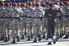 Marcherende Militairen Royalty-vrije Stock Fotografie