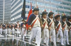 Marchers in Bicentennial Parade, Philadelphia, Pennsylvania Royalty Free Stock Image