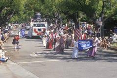 Marchers in 4 de Parade van Juli, Vreedzame Palissaden, Californië Royalty-vrije Stock Afbeeldingen