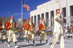 Marchers i veteran dag ståtar Royaltyfria Bilder
