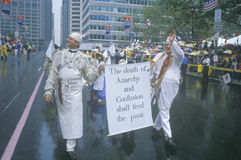Marchers protesting world hunger Stock Photography