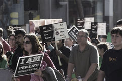 Marchers. Thousands march in pro-life rally in downtown San Francisco, California Royalty Free Stock Photo