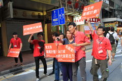 Marches Against government in hong kong 2012 Royalty Free Stock Photography