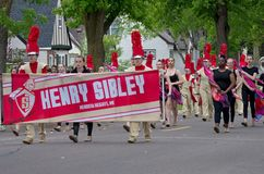 Marches de bande de Sibley dans le saint occidental Paul Parade photos stock