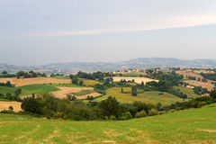 Marches (Italy) - Landscape at summer Stock Photos