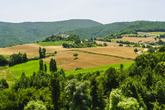 Marches Landscape. Marches (Italy) - Landscape at summer between Sassoferrato and Arcevia Royalty Free Stock Photography