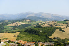Marches, landscape at summer Stock Image