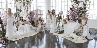 Marchesa i Notte Bridal prezentacja SS18 Zdjęcie Royalty Free