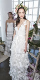 Marchesa i Notte Bridal prezentacja SS18 Obrazy Royalty Free