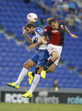 Marchese of Genoa vies with Stuani Espanyol Royalty Free Stock Images