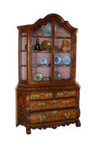Marchetaria de madeira velha bonita do bureauwith imagem de stock royalty free