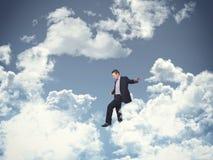 Marcheur de ciel Images libres de droits