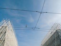 Marcheur de Highline Photographie stock libre de droits