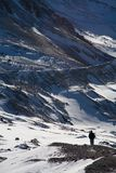Marcheur de l'hiver Images stock