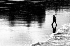 Marcheur de plage Photo libre de droits