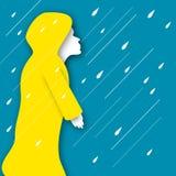 Marcheur de pluie Photographie stock libre de droits