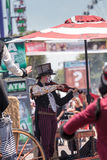 Marcheurs d'échasse de steampunk de Dragon Knights Photos stock