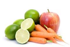 marchewek jabłczani wapno Obraz Stock