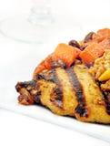 marchewek kurczak piec na grillu moroccan Zdjęcie Royalty Free