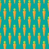 Marchewka akcyjny bezszwowy wzór na zielonym błękitnym tle dla tapety, wzór, sieć, blog, powierzchnia, tekstury, grafika, druk Zdjęcie Royalty Free