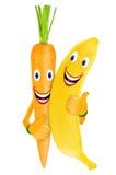 Marchewka i banan zdjęcie royalty free