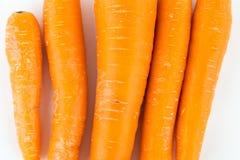 Marchewka odizolowywająca na białym tle Zdrowy jedzenie, dieta obraz stock