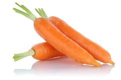 Marchewki świeżego warzywa marchwiani warzywa odizolowywający obrazy stock