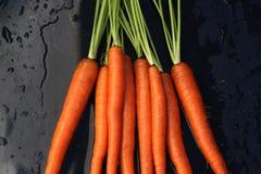 marchewki organicznie świeży Zdjęcie Stock