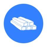 Marchez en crabe l'icône de bâtons dans le style noir d'isolement sur le fond blanc Illustration de vecteur d'actions de symbole  Photo stock
