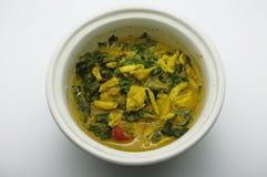 Marchez en crabe le ragoût, chiez l'immersion de lait caillé, fermentez le crabe de piment, nourriture thaïlandaise photo stock