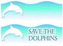 Marchi o bandiere del delfino illustrazione vettoriale