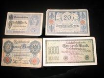 Marchi tedeschi di soldi Fotografia Stock