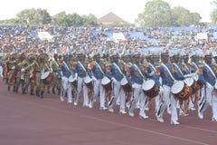 Marchindband militar indonesio imagen de archivo libre de regalías