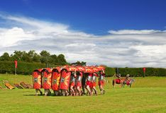 Marching on. Roman Army Training Ground, part of my Roman Soldiers series stock images