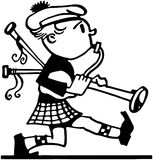 Marching Bagpiper Stock Photo
