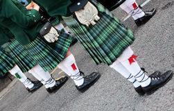 Marching band. A marching band in green tartan Stock Photo