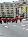 Marching band. Marching ceremonial military orchestra in Ottawa, Canada Royalty Free Stock Photography