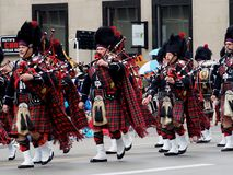 Marching Band With Bagpipes Stock Image