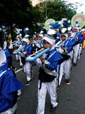 Marching band. Children are following the marching band competition between schools in the city of Solo, Central Java, Indonesia Stock Photo