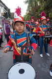 Marching band. Children were following marching band contest in the city of Solo, Central Java, Indonesia Stock Photo