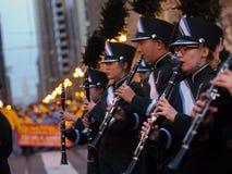 Marching Band at the Chineese Parade 2016 San Francisco CA Royalty Free Stock Images
