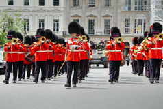 Marching Band of the Coldstream Guards Stock Photos